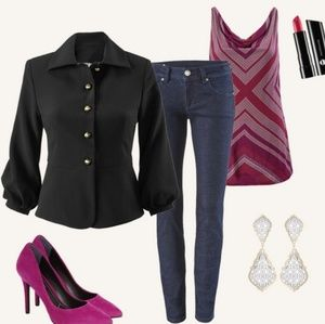 CAbi Jackets & Coats - CAbi Black Abbott Peplum Jacket Blazer size 4